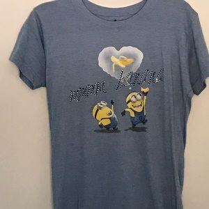 Despicable Me Minions Blinged Out Blue T-Shirt L